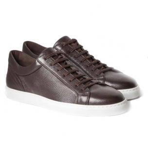 Moreschi Ibiza Deerskin Sneakers Dark Brown Image