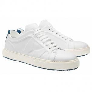 Moreschi Kos Calfskin & Nubuck Sneakers White / Navy  Image