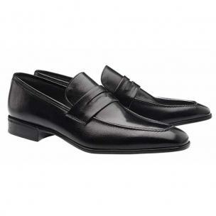 Moreschi Liegi Buffalo Apron Toe Loafers Black Image