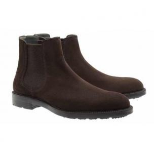 Moreschi Lubecca Suede Slip on Boots Dark Brown Image