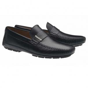 Moreschi Miami Deerskin Driving Loafers Black Image