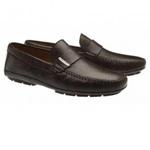 Moreschi Miami Deerskin Driving Loafers Dark Brown Image