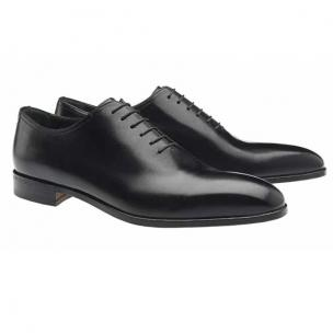 Moreschi Montreal Plain Toe Calfskin Oxfords Black Image