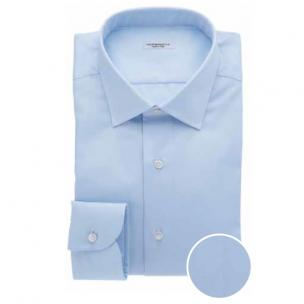 Moreschi Nadir Cotton Dress Shirt Light Blue Image