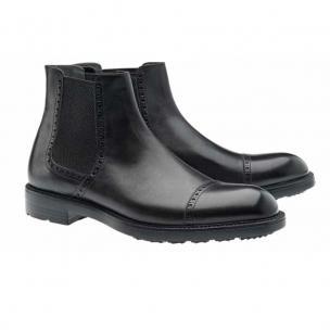 Moreschi Narvik Calfskin Cap Toe Boots Black Image