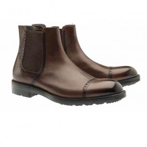 Moreschi Narvik Calfskin Cap Toe Boots Brown Image