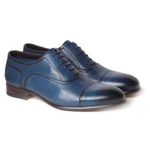 Moreschi Nice Deerskin Oxfords Blue Image