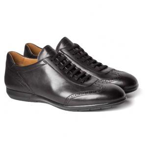 Moreschi Porto Calfskin Sneakers Black Image