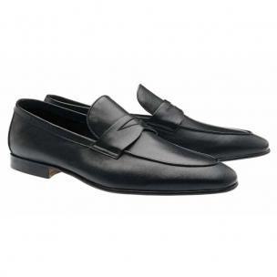 Moreschi Rio Calfskin Penny Loafers Black Image