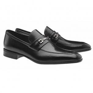 Moreschi Santiago Apron Toe Bit Loafers Black Image