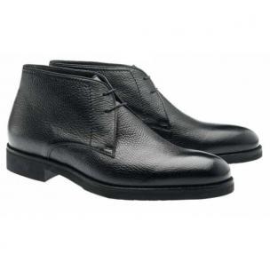 Moreschi Seattle Deerskin Chukka Boots Black Image