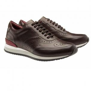 Moreschi Sparta Calfskin Sneakers Dark Brown Image