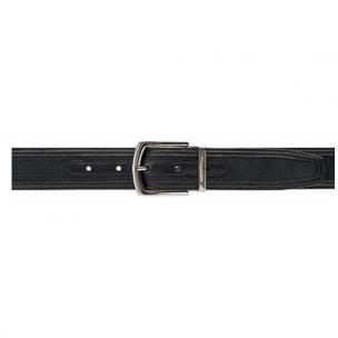 Moreschi St. Barth Perforated Nubuck Belt Black Image