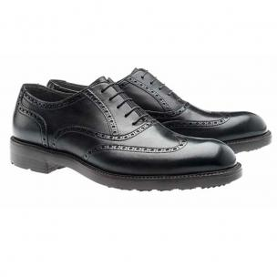 Moreschi Stoccolma Calfskin Wingtip Oxfords Black Image