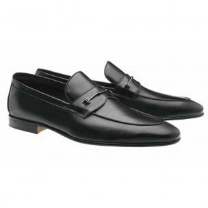 Moreschi Sydney Calfskin Bit Loafers Black Image