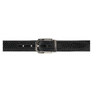 Moreschi Trinidad Woven Calfskin Belt Black Image