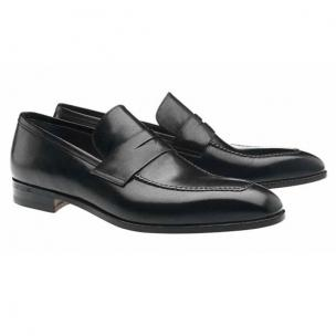 Moreschi Vancouver Apron Toe Penny Loafers Black Image