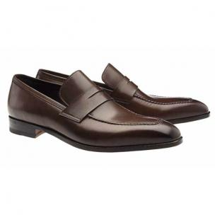 Moreschi Vancouver Apron Toe Penny Loafers Brown Image