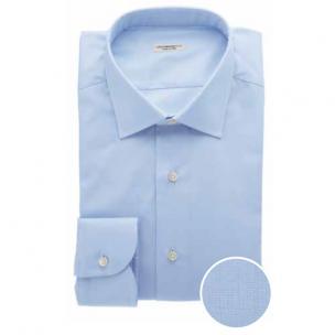 Moreschi Zenit Woven Cotton Dress Shirt Light Blue Image