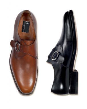 Moreschi Bristol Calfskin Monk Strap Shoes Image