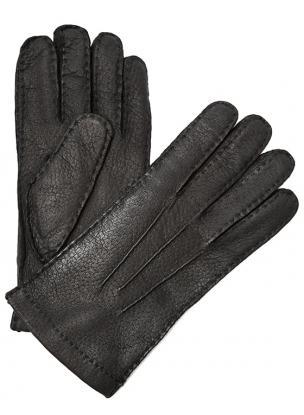 Moreschi Vail Genuine Peccary / Cashmere Gloves Black Image