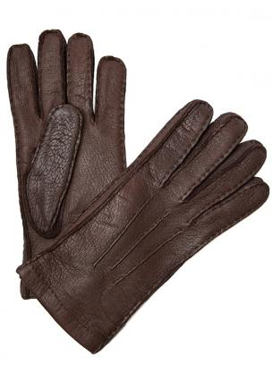 Moreschi Vail Genuine Peccary / Cashmere Gloves Brown Image