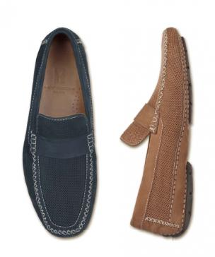 Moreschi Nubuck Driving Loafers Tan Image