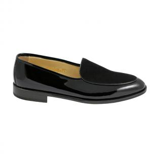 Nettleton 'After Hours' Patent Leather & Suede Goodyear Welted Loafers Black Image
