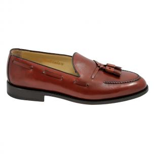 Nettleton Barrington Goodyear Welted Tassel Loafers Rosso Brick Image