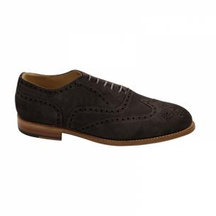 Nettleton Fayetteville Suede Goodyear Welted Wingtip Brogues Chocolate Image