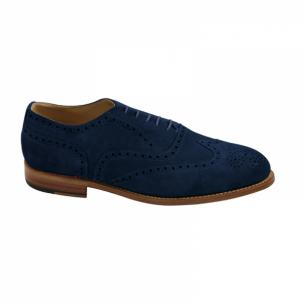 Nettleton Fayetteville Suede Goodyear Welted Wingtip Brogues Navy Image