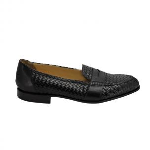 Nettleton Key West Woven Penny Loafers Black Image