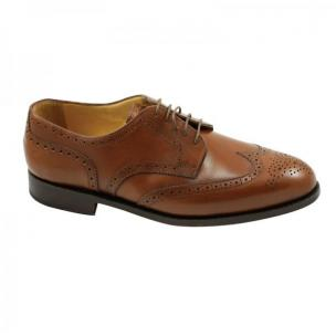 Nettleton Manchester Goodyear Welted Wingtip Brogues Oak Image