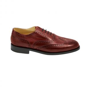 Nettleton Manchester Goodyear Welted Wingtip Brogues Red Image