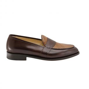 Nettleton Savannah Goodyear Welted Woven Loafers Brown Image