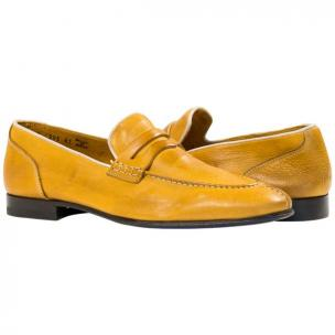 Paolo Shoes Aaron Nappa Penny Loafers Yellow Image