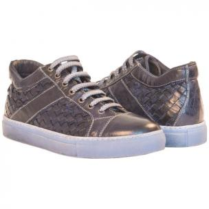 Paolo Shoes Carlo Woven Sneakers Blue Image