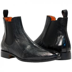 Paolo Shoes Dwayne Eel Chelsea Boots Black Image