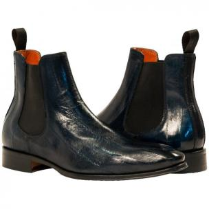 Paolo Shoes Dwayne Eel Chelsea Boots Blue Image