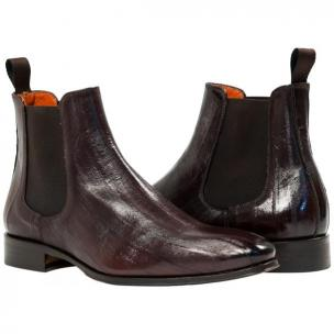 Paolo Shoes Dwayne Eel Chelsea Boots Dark Brown Image