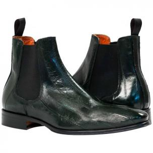 Paolo Shoes Dwayne Eel Chelsea Boots Green Image