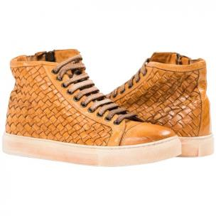 Paolo Shoes Gavin Wovne High Top Sneakers Brick Image