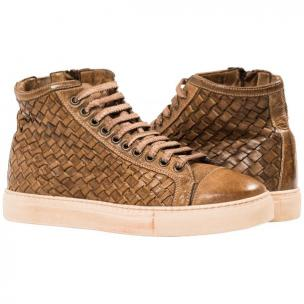 Paolo Shoes Gavin Wovne High Top Sneakers Moor Image