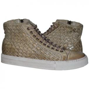 Paolo Shoes Gavin Wovne High Top Sneakers Rope Image