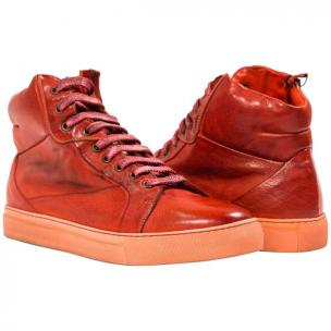Paolo Shoes Grayson High Top Sneakers Red Image