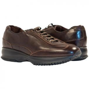 Paolo Shoes Harris Nappa Sneakers Dark Brown Image