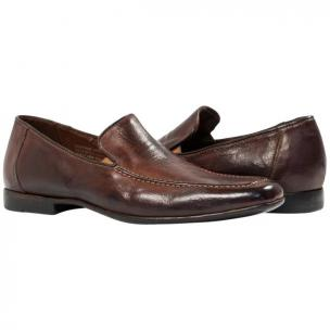 Paolo Shoes Les Nappa Loafers Brown Image