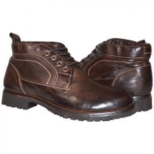 Paolo Shoes Luke Nappa Leather Chukka Boots Brown Image