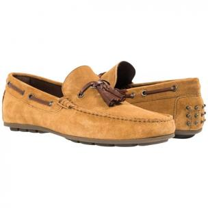 Paolo Shoes Matthew Suede Tasseled Driving Shoes Kangaroo Image