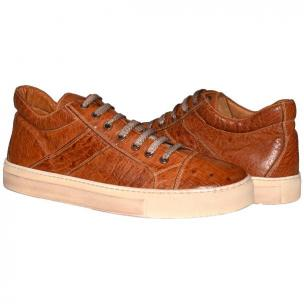 Paolo Shoes Neo Ostrich Sneakers Cognac Image
